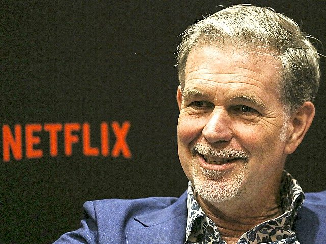 SINGAPORE - NOVEMBER 09: Netflix CEO Reed Hastings speaks during an interview on day two of the Netflix See What's Next: Asia event at the Marina Bay Sands on November 9, 2018 in Singapore. (Photo by Ore Huiying/Getty Images for Netflix)