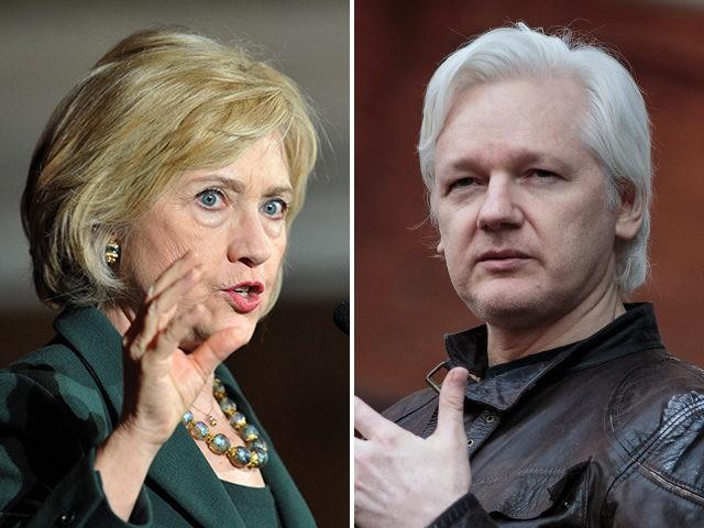 hillary-clinton-julian-assange-getty