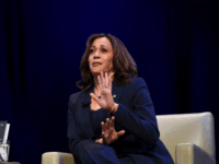 Kicking off her book tour, Sen. Kamala Harris, D-Calif., speaks at George Washington University in Washington on Wednesday (Sait Serkan Gurbuz/AP)
