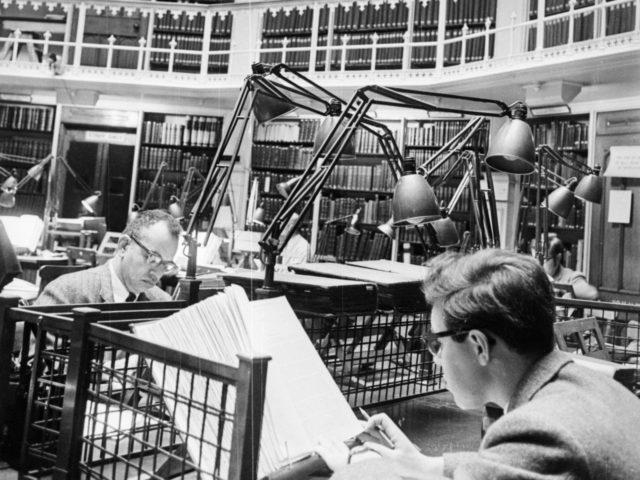 3rd December 1967: The interior of the public records office on Chancery Lane, Holborn, London. (Photo by Powell/Express/Getty Images)