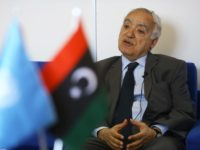 Ghassan Salame, UN special envoy for Libya and head of the UN Support Mission in Libya (UNSMIL), speaks during an interview with AFP at his office in the capital Tripoli on April 18, 2019. (Photo by Mahmud TURKIA / AFP) (Photo credit should read MAHMUD TURKIA/AFP/Getty Images)