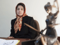 In this Nov. 1, 2008 photo, Iranian human rights lawyer Nasrin Sotoudeh, poses for a photograph in her office in Tehran, Iran. On Wednesday, March 6, 2019, the New York-based Center for Human Rights in Iran, said Sotoudeh, a prominent human rights lawyer in Iran who defended women protesting against …