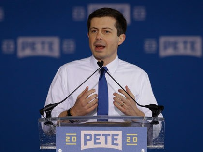 Pete Buttigieg announces that he will seek the Democratic presidential nomination during a rally in South Bend, Ind., Sunday, April 14, 2019. Buttigieg, 37, is serving his second term as the mayor of South Bend. (AP Photo/Michael Conroy)