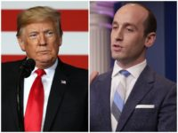 President Donald Trump defended his senior advisor Stephen Miller on Wednesday, despite criticism from the establishment of his efforts to implement a tougher immigration agenda in the White House