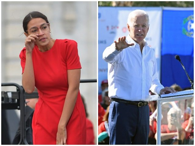 Congresswoman Alexandria Ocasio-Cortez is not impressed with the idea that former Vice President Joe Biden is considering a run for president in 2020.