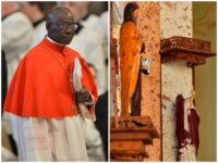 "Vatican Cardinal Robert Sarah denounced the ""barbaric Islamist violence"" behind the Easter bombings in Sri Lanka Sunday."
