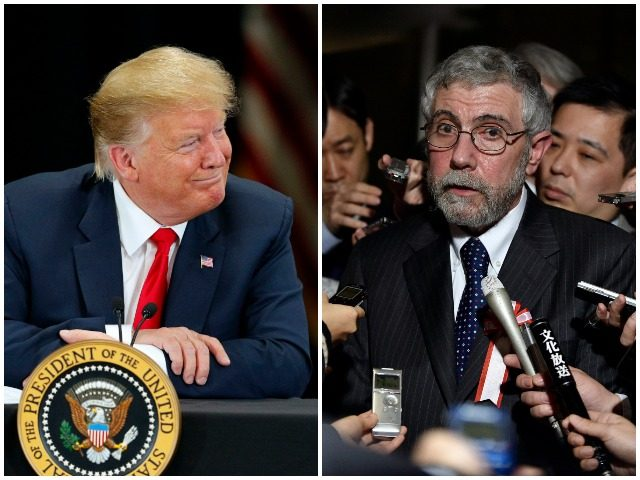 Donald Trump again taunted the New York Times on Tuesday for their coverage of his presidency, singling out columnist Paul Krugman for criticism.