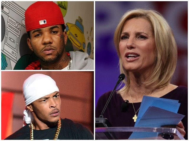 b475ad8cdd0 Rap artists T.I. and The Game are publicly attacking Laura Ingraham over  her reaction to rapper Nipsey Hussle s slaying