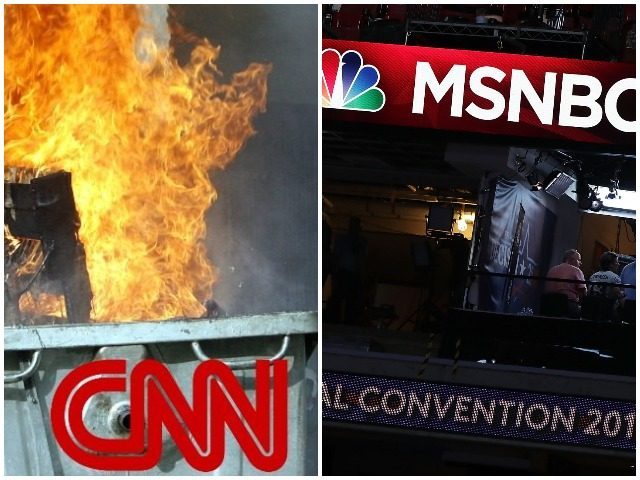 Nolte: Another Week, Another Ratings Collapse at Far-Left CNN, MSNBC