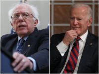 Former Vice President Joe Biden and Sen. Bernie Sanders (I-VT) hold a substantial lead over their Democrat competitors for the 2020 presidential nomination, according to a poll released Monday.
