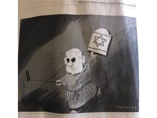 Nyt Prints Another Anti Israel Cartoon Amid Antisemitism Scandal