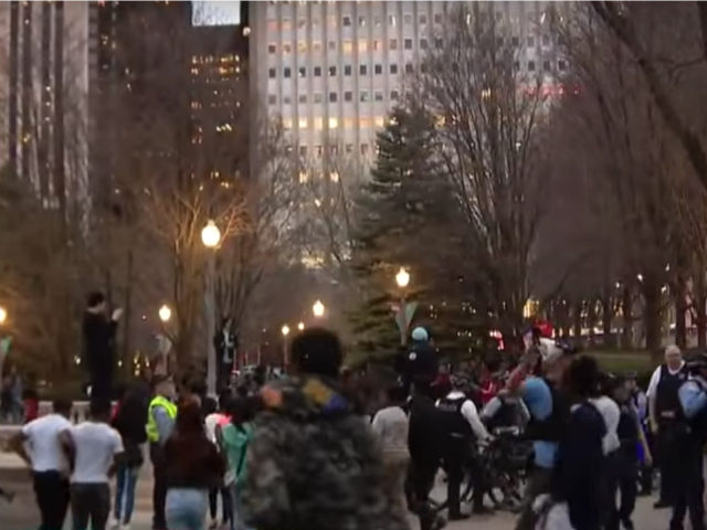 Chicago police were dealing with hundreds of teens running through downtown Chicago Wednesday night, yelling, stopping traffic and running in the streets.
