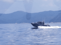 A Metal Shark patrol boat delivered by the U.S. sails in the waters off Khanh Hoa Province in central Vietnam. Photo courtesy of the U.S. Embassy in Hanoi