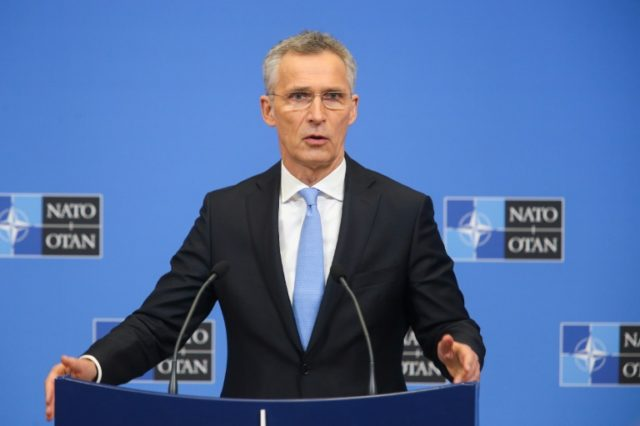 NATO Secretary General Jens Stoltenberg, seen here in February 2019, has agreed with the United States that Germany should boost its military spending