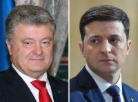 Ukraine vote rivals clash in stadium debate