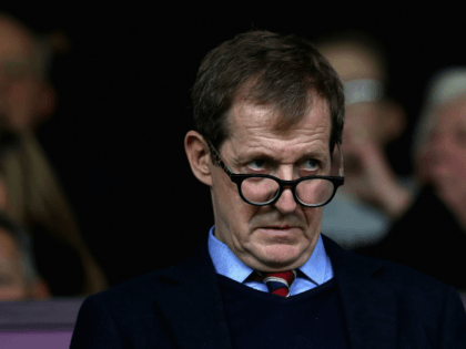 BURNLEY, ENGLAND - OCTOBER 14: Journalist and Burnley fan Alastair Campbell looks on prior to the Premier League match between Burnley and West Ham United at Turf Moor on October 14, 2017 in Burnley, England. (Photo by Ian MacNicol/Getty Images)