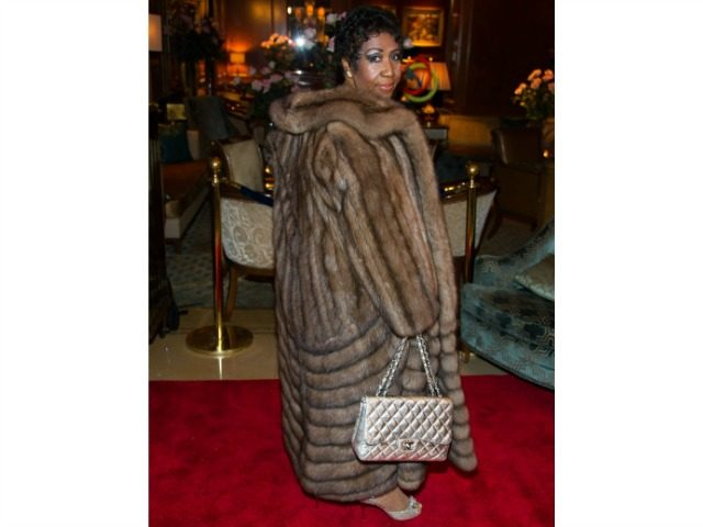 Aretha Franklin in Fur Coat