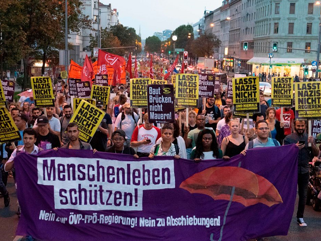 Austria Migrants Protest