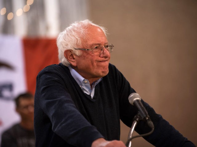 FORT DODGE, IA - MAY 04: Democratic presidential candidate Sen. Bernie Sanders (I-VT) speaks during a town hall at the Fort Museum on May 4, 2019 in Fort Dodge, Iowa. Sanders has been campaigning in the state of Iowa for the past several days. (Photo by Stephen Maturen/Getty Images)