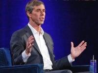 "Former Democratic Texas congressman Beto O'Rourke gestures during a live interview with Oprah Winfrey on a Times Square stage at ""Oprah's SuperSoul Conversations from Times Square,"" Tuesday, Feb. 5, 2019, in New York. O'Rourke dazzled Democrats in 2018 by nearly defeating Republican Sen. Ted Cruz in the country's largest red …"