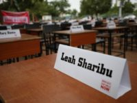 Names of the remaining Chibok schoolgirls are displayed with their desk on April 14, 2019, during the 5th Year Commemoration of the abduction of the 276 Chibok Schoolgirls by Boko Haram on April 14, 2014 from Government Secondary School, Chibok, Borno State. - On April 14, 2014, gunmen stormed the …