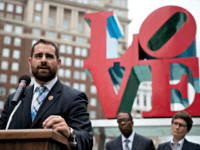 FILE - In this Sept. 25, 2014, file photo, State Rep. Brian Sims, D-Philadelphia, accompanied by other officials, speaks at a protest calling on Pennsylvania to add sexual orientation to its hate crime law at John F. Kennedy Plaza, also known as Love Park in Philadelphia. The Democratic Pennsylvania state …