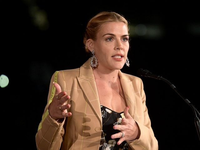 LOS ANGELES, CA - OCTOBER 22: Busy Philipps presents the Voice of Style award onstage during the 2018 InStyle Awards at The Getty Center on October 22, 2018 in Los Angeles, California. (Photo by Matt Winkelmeyer/Getty Images for InStyle)