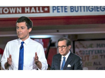 South Bend, Indiana Mayor Pete Buttigieg speaks during a town hall with Fox News Channel on May 18, 2019 in Claremont, New Hampshire Sarah Rice/Getty Images/AFP