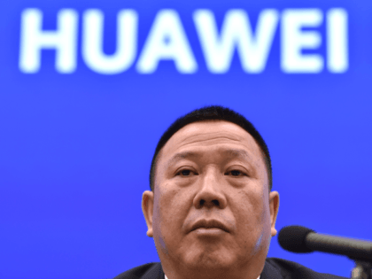 Song Liuping, chief legal officer of Chinese tech giant Huawei, speaks during a press conference at the Huawei facilities in Shenzhen, Guangdong province on May 29, 2019. - Huawei said on May 29 the tech giant will ask a US court to throw out US legislation that bars federal agencies …