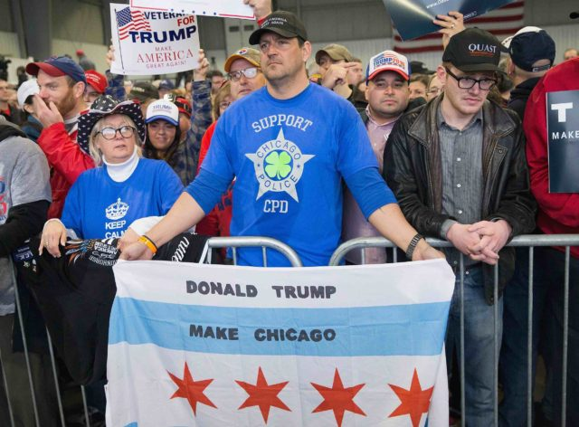 Chicago Trump supporters (Scott Olson / Getty)