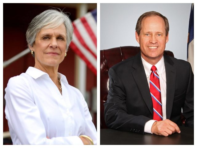 Collage of Dr. Joan Perry and Dr. Greg Murphy, who will face a runoff election in July for North Carolina's 3rd Congressional District.