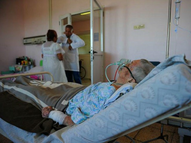 An elderly patient at the Geriatrics ward of Comandante Manuel Fajardo Hospital in Havana, on July 6, 2017. / AFP PHOTO / YAMIL LAGE (Photo credit should read YAMIL LAGE/AFP/Getty Images)