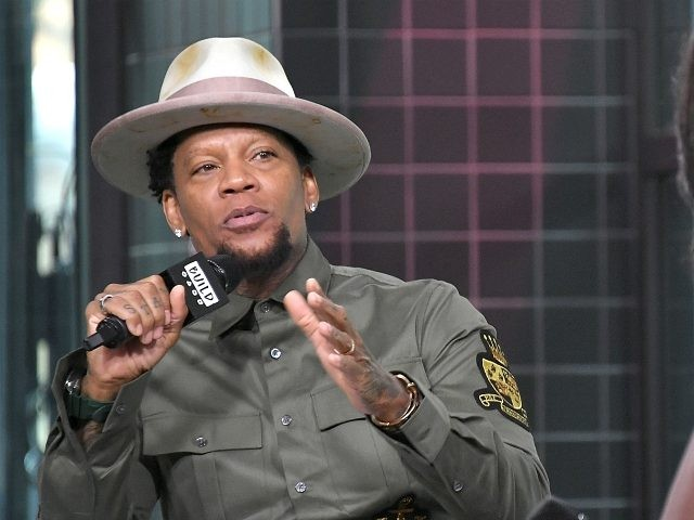 "NEW YORK, NY - JULY 11: D. L. Hughley visits Build to discuss his book ""How Not to Get Shot: And Other Advice From White People"" at Build Studio on July 11, 2018 in New York City. (Photo by Michael Loccisano/Getty Images)"