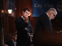 Democratic presidential candidate and South Bend, Indiana Mayor Pete Buttigieg listens to a question from a guest after speaking at a luncheon hosted by the City Club of Chicago on May 16, 2019 in Chicago, Illinois. Buttigieg is one of more than 20 candidates seeking the Democratic nomination for president. …