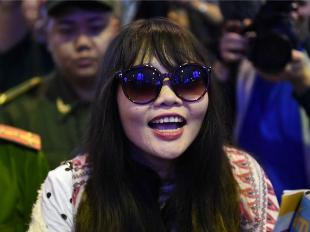 Vietnamese national Doan Thi Huong arrives in Hanoi on May 3, 2019, following her release from a Malaysian prison after charges that she was involved in the murder of Kim Jong Nam, the half-brother of North Korean leader Kim Jong Un, were withdrawn. (Photo by Nhac NGUYEN / AFP) (Photo …