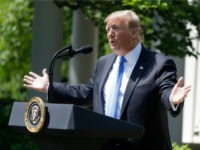 President Donald Trump speaks during a National Day of Prayer event in the Rose Garden of the White House, Thursday May 2, 2019, in Washington. (AP Photo/Evan Vucci)