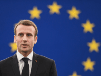 French President Emmanuel Macron arrives for a speech at the European Parliament on April 17, 2018 in the eastern French city of Strasbourg. - Macron addresses the European Parliament for the first time in a bid to shore up support for his ambitious plans for post-Brexit reforms of the EU. …