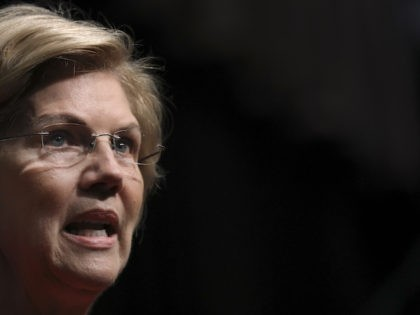 NEW YORK, NY - APRIL 5: 2020 Democratic presidential candidate Sen. Elizabeth Warren (D-MA) speaks at the National Action Network's annual convention, April 5, 2019 in New York City. A dozen 2020 Democratic presidential candidates are speaking at the organization's convention this week. Founded by Rev. Al Sharpton in 1991, …