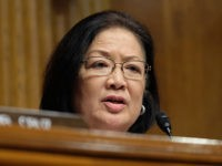 WASHINGTON, DC - APRIL 10: Sen. Mazie Hirono (D-HI) speaks at a Senate Judiciary Committee hearing on April 10, 2019 in Washington, DC. The Republican-controlled Senate Judiciary Committee is questioning whether large tech companies are biased towards conservatives. (Photo by Alex Wroblewski/Getty Images)