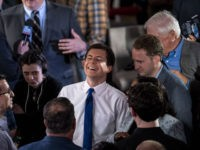 CLAREMONT, NH - MAY 19: South Bend, Indiana Mayor Pete Buttigieg greets supporters after a town hall with Fox News Channel on May 18, 2019 in Claremont, New Hampshire. Buttigieg, one of 23 Democrats seeking the 2020 presidential nomination, pitched four distinct tax hikes at the event when asked about …