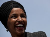 "WASHINGTON, DC - APRIL 30: Rep. Ilhan Omar (D-MN) speaks at an event outside the U.S. Capitol April 30, 2019 in Washington, DC. Omar and others called for ""Democratic leaders Speaker Nancy Pelosi and Senate Minority Leader Chuck Schumer censure President Trump for inciting violence against Congresswoman Ilhan Omar."" (Photo …"