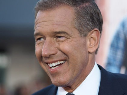 "NBC network news anchorman Brian Williams arrives for the world premiere of ""Neighbors,"" April 28, 2014 at the Regency Village Theater in Los Angeles, California. AFP PHOTO / ROBYN BECK (Photo credit should read ROBYN BECK/AFP/Getty Images)"