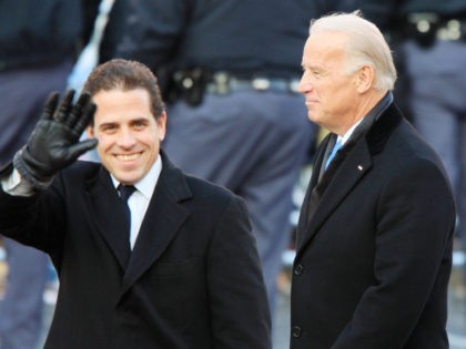 WASHINGTON, D.C. - JANUARY 20: Vice-President Joe Biden and sons Hunter Biden (L) and Beau Biden walk in the Inaugural Parade January 20, 2009 in Washington, DC. Barack Obama was sworn in as the 44th President of the United States, becoming the first African-American to be elected President of the …