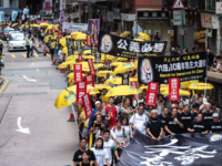 Pro-democracy activists attend a march in Hong Kong on May 26, 2019, to commemorate the June 4, 1989, Tiananmen Square crackdown in Beijing. (Photo by Philip FONG / AFP) (Photo credit should read PHILIP FONG/AFP/Getty Images)