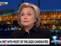 Hillary Clinton on MSNBC, 5/1/2019