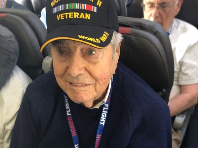 Honor Flight veteran Frank Manchel.