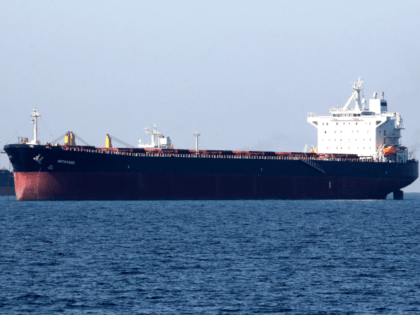 An oil tanker is pictured off the Iranian port city of Bandar Abbas, which is the main base of the Islamic republic's navy and has a strategic position on the Strait of Hormuzon April 30, 2019. (Photo by ATTA KENARE / AFP) (Photo credit should read ATTA KENARE/AFP/Getty Images)