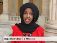 Rep. Ilhan Omar screenshot from Democracy Now! clip.