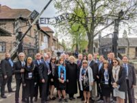 AUSCHWITZ — The first-ever U.S. delegation to the March of the Living annual Holocaust memorial arrived at Auschwitz on a somber Thursday morning, bringing several ambassadors and envoys in a show of solidarity against antisemitism.