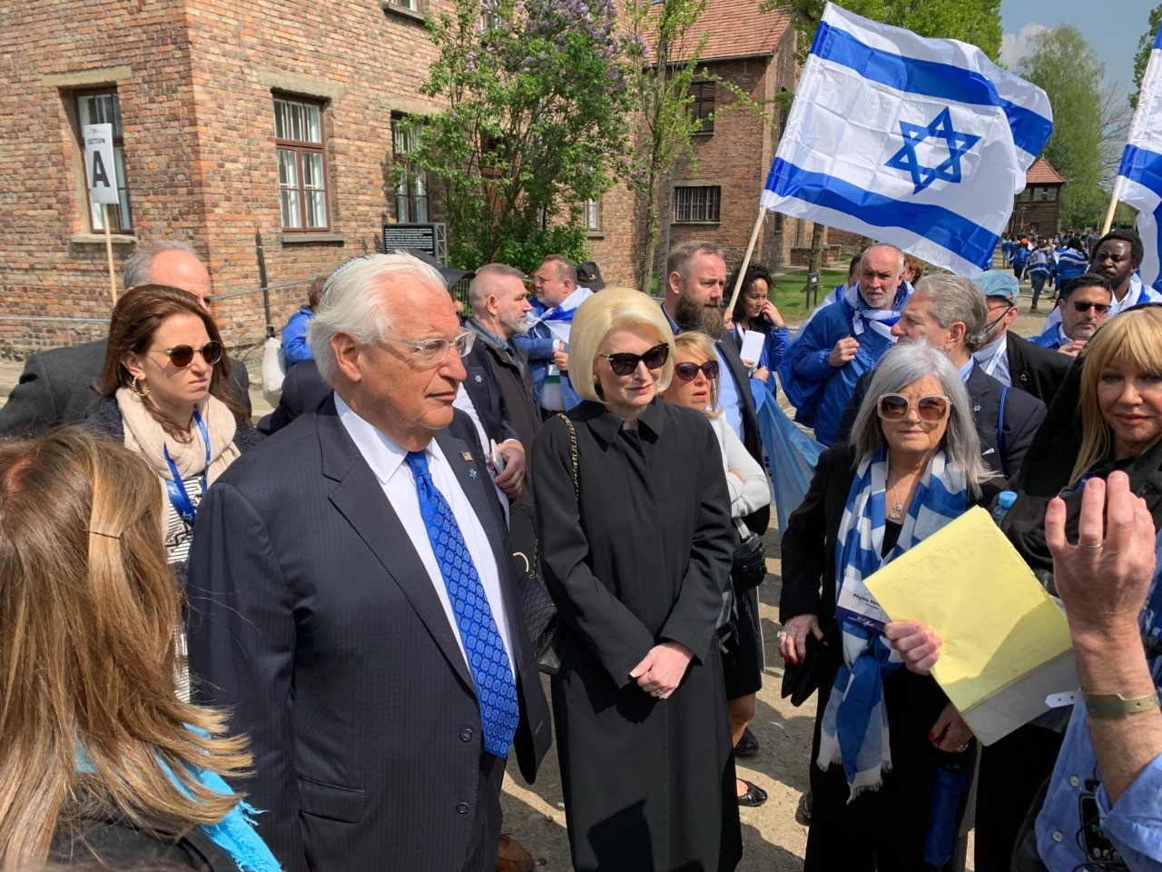 David Friedman and Ambassador to the Holy See, Calista Gingrich, were among many other ambassadors in the first-ever U.S. delegation to the March of the Living annual Holocaust memorial at Auschwitz